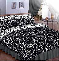 """Двуспальный комплект постельного белья  """"Чёрное и белое""""."""