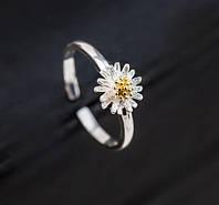 Cеребряное кольцо «Неувядающая ромашка»