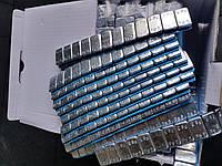 Грузик балансировочный клеящий голубой стальной, фото 1