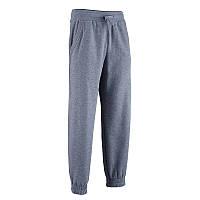 Штаны спортивные мужские, брюки для фитнеса Domyos REGULAR серые