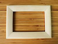Деревянная рамка 10x10 см (липа скругленный 30 мм)