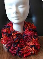Ажурный французский вязаный шарф ручной работы. Расцветки в ассортименте