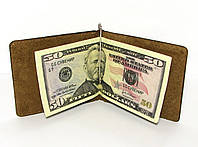 Кожаный кошелек Зажим для денег Хаки