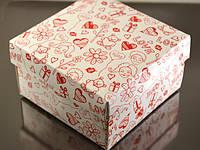 Коробка 90*90*50мм, романтика