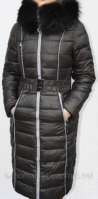 Пуховик-пальто женский MACKA ANGEL  с утеплителем холлофайбер