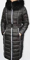 Пуховик-пальто женский MACKA ANGEL  с утеплителем холлофайбер, фото 1