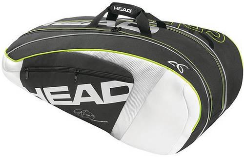 Великолепная мужская сумка-чехол на 12 ракеток 283095 Djokovic 9R Supercombi HEAD