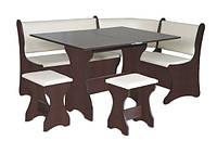 Кухонный уголок Италия комплект (стол КС 3 раскладной+диван+2 табурета Т1)