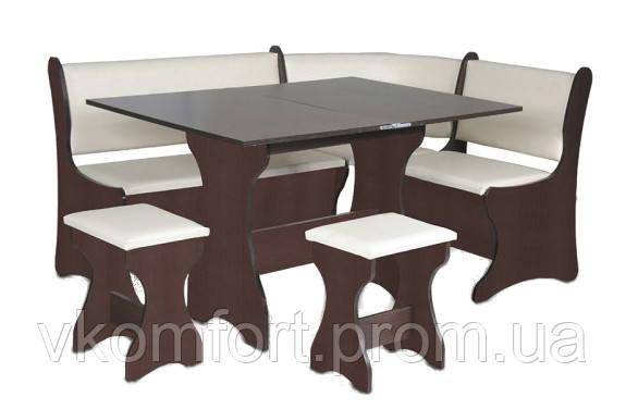 Набор: кухонный уголок Италия, стол, два табурета