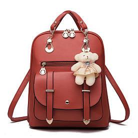 Рюкзак женский городской Candy Bear dark red