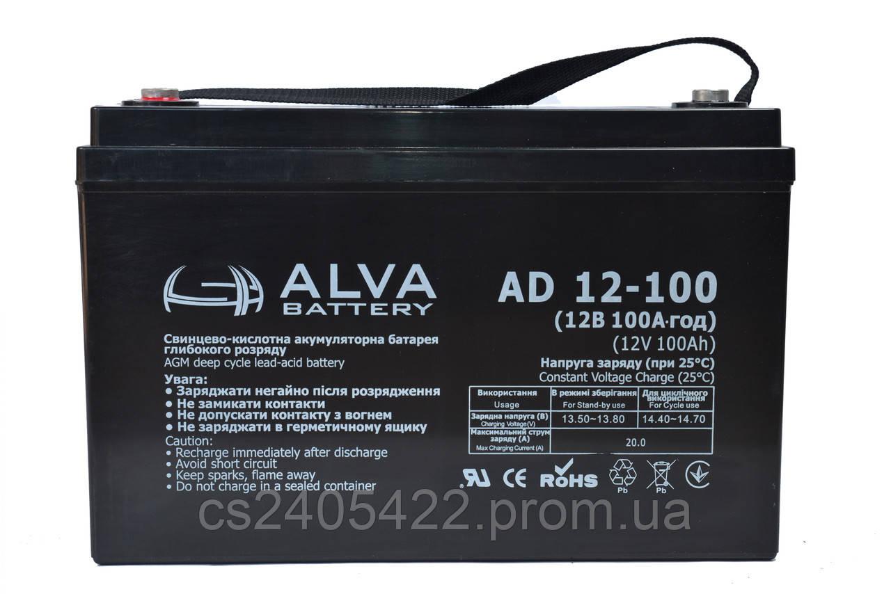 Аккумуляторная батарея AD12-100 AGM