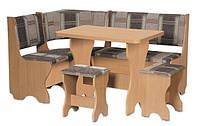 Кухонный уголок Кипр комплект (стол КС 3 раскладной+диван+2 табурета Т1)