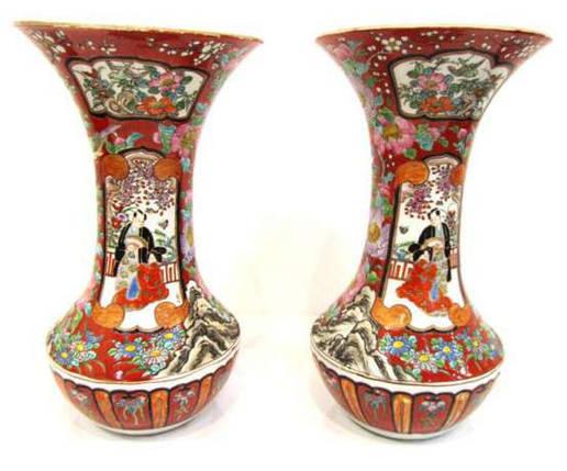 Вазы Япония кон. 19 век период Мейдзи, фото 2