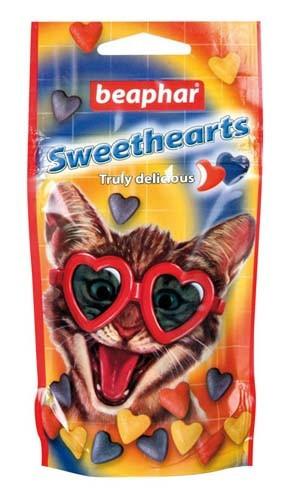 Beaphar Sweethearts 150 таблеток-витамины для кошек в виде сердечек с морепродуктами (16110)