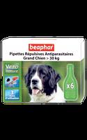 Beaphar Біо від бліх, кліщів і комарів для собак великих порід 6 піпеток (15614)
