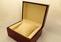 Деревянная шкатулка с подушечкой для часов, коробочка подарочная, фото 1