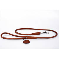 CoLLar SOFT Круглый кожаный поводок для собак  (длина 122 см, диаметр - 13 мм) (0486)