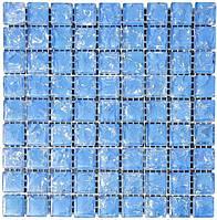 Мозаика моно 300х300х6 (код 446) (голубой колотый), ячейка 15х15