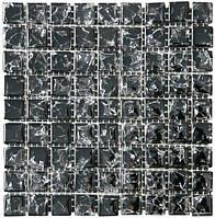 Мозаика моно 300х300х6 (код 448) (черный колотый), ячейка 15x15