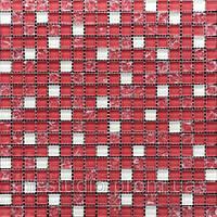 Мозаика микс 300х300х6 (код 499) (розовый-розово-колотый-белая), ячейка 15х15