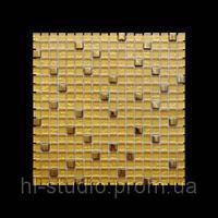 Мозаика микс 300х300х6 (код 506) (металлик золото), ячейка 15х15