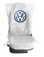 Чехлы накидки на  сидения 400 шт. полиэтиленовые,  одноразовые  с логотипом  Volkswagen Белый