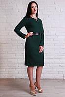 Женское платье темно-зеленого цвета