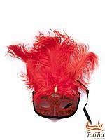 Карнавальная маска с перьями