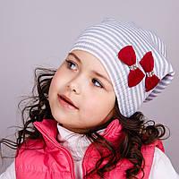 Милая шапка для девочек с бантиками, весна-осень  - Артикул 1601