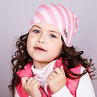 Милая шапка для девочек в полоску, весна-осень  - Артикул 1731