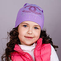 Легкая шапка для девочек - Шанель, весна-осень  - Артикул 1749