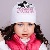 Легкая шапка для девочек - Paris, весна-осень  - Артикул 1759