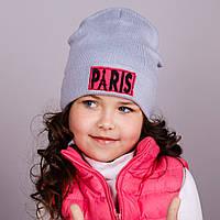 Модная шапка для девочек - Париж - весна-осень  - Артикул 1701