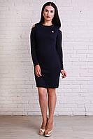 Женское платье из фактурного трикотажа