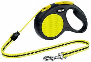 Flexi Neon S (5м,до 12кг,трос) поводок-рулетка для собак