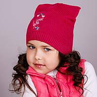 Модная шапка-кошка для девочек в розницу, I love you - весна-осень - Артикул 1707, фото 1