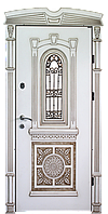 Двери с ковкой и стеклопакетом МДФ 2050х960 Элит