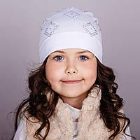 Модная шапка для девочек - ромбики - весна-осень  - Артикул 1750