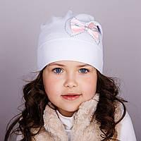 Модная шапка для девочек - Бантик - весна-осень  - Артикул 1766