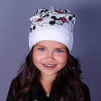 Модная шапка для девочек - Мики маус - в розницу - весна-осень  - Артикул 1778