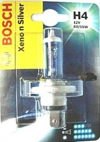 Ксеноновая лампа H4 12V 60/55W (Xenon Silver) блистер, на Renault Trafic 01-> — Bosch - 1987301068