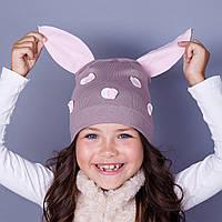 Модная шапка для девочек в розницу - Пеппа - весна-осень  - Артикул 1784