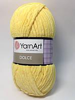 Пряжа dolce - цвет желтый