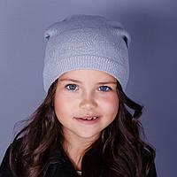 Модная спортивная вязанная шапка для девочек в розницу - Nike - осень  - Артикул 1505