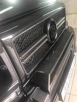 Накладка на передний бампер G463 G63 G65 Carbon (углеволокно)