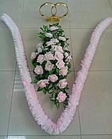 Свадебный комплект украшений для авто (№ 8) нежно-розовый