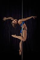 Костюм женский для Pole dance синий Zevana Spider