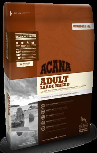 Acana Adult Large Breed 17кг - корм для взрослых собак крупных пород