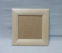 Рамка деревянная Квадратная, сосна, 34х34см