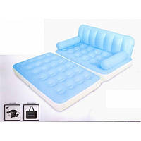 Надувной диван кровать 5 в 1 Bestway 75038 с электро насосом